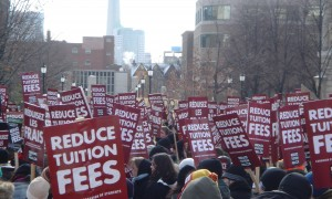Students protest over tuition fees