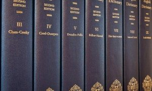 Volumes of the Oxford English Dictionary. Image: mrpolyonymous (CC BY SA 2.0)