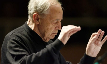 French composer and conductor Pierre Boulet conducts the dress rehearsal of the SWR Symphonic Orchestra at the Donaueschingen Festival in Donaueschingen, Germany, 17 October 2008.  Credit: MaxPPP