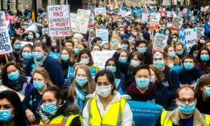 Doctors put on masks and observed three minutes' silence.