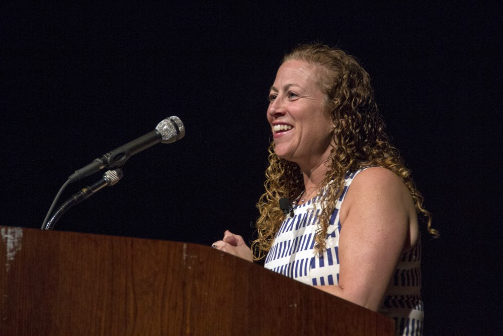 "Best-selling author Jodi Picoult discusses her new novel, ""The Storyteller"", as the 2013 Harry Middleton Lecturer on March 19, 2013 at the LBJ Presidential Library. She is the author of 19 novels, the last seven of which have debuted at number one on the New York Times bestseller list. Photo by Lauren Gerson."