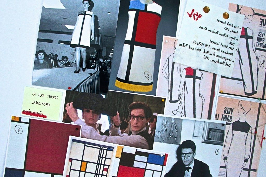 Swinging Sixties, France (yet again). Yves Saint Laurent's Mondrian dress translates the flat primary colour blocks by the homonymous Dutch artist into three-dimensional blocks of jersey carefully woven in so as to accommodate the roundedness of the female figure whilst maintaining the planarity of the Mondrian order. Saint Laurent's iconic piece is a masterpiece of artistry, craftsmanship and simplicity. No later design (see his 1988 tribute to Cubist painter George Braque) is as visually effective and easily wearable.