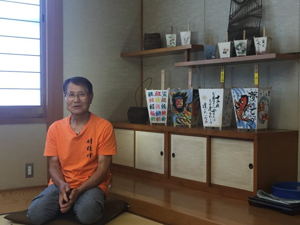 Andon maker Kanji Okihito