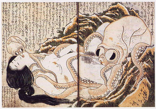 The Dream of the Fisherman's Wife, a famous shunga wood print by renowned ukiyo-e artist Katsushika Hokusai