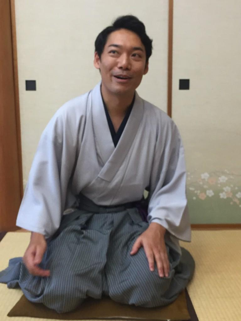 Urasenke tea ceremony master Yoshihiko Amitani
