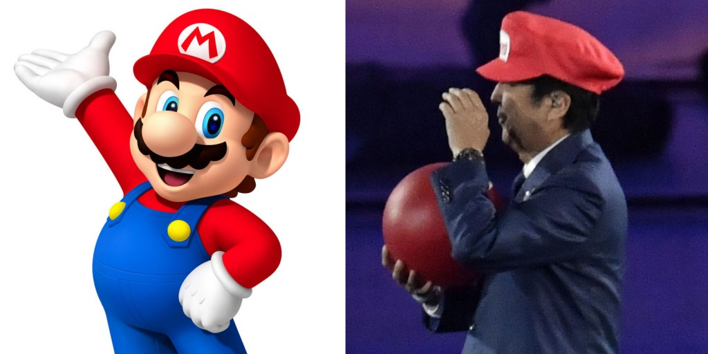 Shinzo Abe surprised the world earlier this year by dressing up as Super Mario at the Rio Olympics closing ceremony (IMAGE: Gaia Giordani)