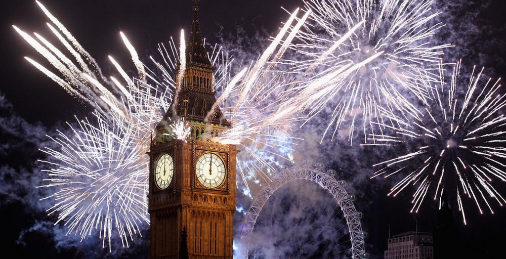 Big Ben London New Year Fireworks