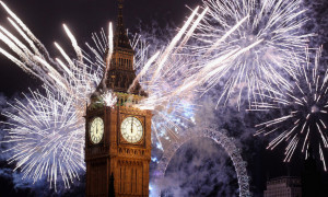 Big Ben London New Year Fireworks