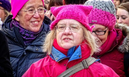 Photos taken at the Women's March in London on Saturday 21st January 2017.
