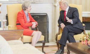 Theresay May & Donald Trump