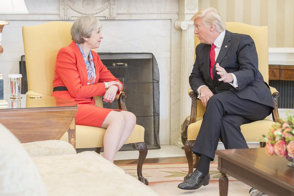 Theresay May & Donald Trump