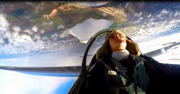 Dina Morhij doing some aerobatics in ESB with Paul Conran. January 2017.