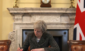 EMB-PROD-The-Prime-Minster-Of-the-United-Kingdom-Theresa-May-Signs-Article-50
